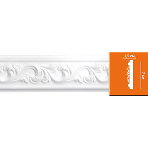 Молдинг Decomaster DECOMASTER-2 цвет белый 70х15х2400 мм (98065)