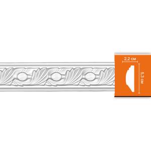 Молдинг Decomaster DECOMASTER-2 цвет белый 22х53х2400 мм (98102)