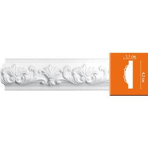 Молдинг Decomaster DECOMASTER-2 цвет белый 42х11х2400 мм (98302)