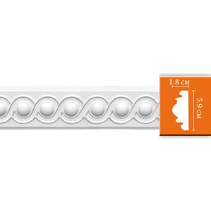 Молдинг Decomaster DECOMASTER-2 цвет белый 18х59х2400 мм (98520)