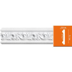 Молдинг Decomaster DECOMASTER-2 цвет белый 51х9х2400 мм (98652)