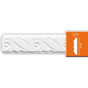 Молдинг Decomaster DECOMASTER-2 цвет белый 56х7х2400 мм (98657)