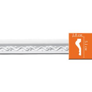 Молдинг Decomaster DECOMASTER-2 цвет белый 50х18х2400 мм (98667)