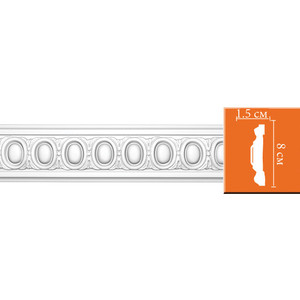 Молдинг Decomaster DECOMASTER-2 цвет белый 15х80х2400 мм (98703)