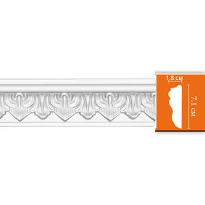 Молдинг Decomaster DECOMASTER-2 цвет белый 18х71х2400 мм (98704)