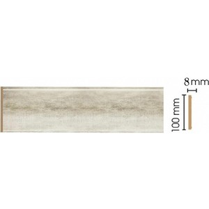 Панель Decomaster Матовое серебро цвет 937 100х9х2400 мм (B10-937)