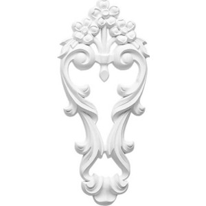 Орнамент Decomaster DECOMASTER-1 цвет белый 255х115х15 мм (DA 782)