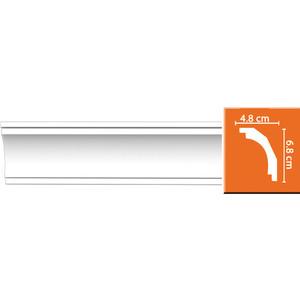 Профиль гибкий Decomaster DECOMASTER-2 цвет белый 48х68х2400 мм (DP 16 fl)