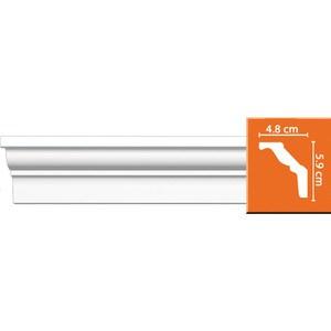 Профиль Decomaster DECOMASTER-2 цвет белый 48х59х2400 мм (DP 18) decomaster багет decomaster 808 552 размер 61х26х2900мм