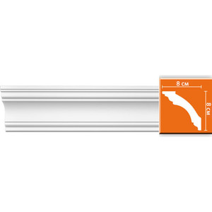 Профиль Decomaster DECOMASTER-2 цвет белый 80х80х2400 мм (DP 213)