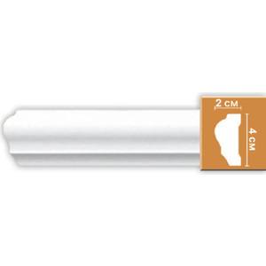 Молдинг Decomaster DECOMASTER-1 цвет белый 20х40х2400 мм (DP 304)