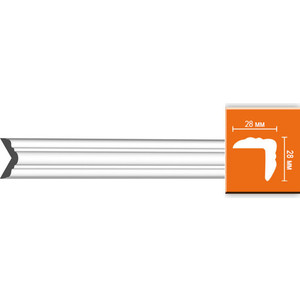 Плинтус угловой гибкий Decomaster DECOMASTER-2 цвет белый 28х28х2400 мм (DP 332 fl)
