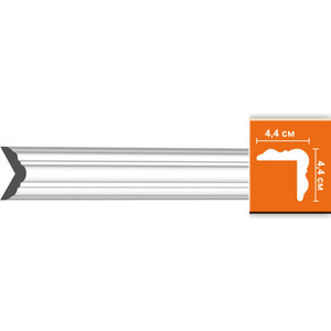 Плинтус угловой гибкий Decomaster DECOMASTER-2 цвет белый 44х44х2400 мм (DP 333 fl)