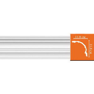 Профиль Decomaster DECOMASTER-1 цвет белый 118х118х2400 мм (DP 50)