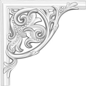 Угол Decomaster DECOMASTER-2 цвет белый 280х280х25 мм (DP 8032 A)