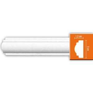 Молдинг Decomaster DECOMASTER-2 цвет белый 12х30х2400 мм (DP 8032)