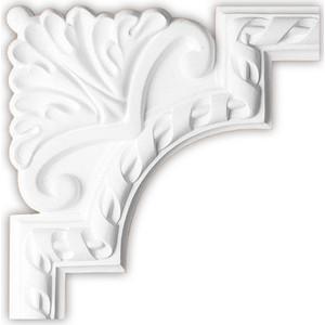 Угол Decomaster DECOMASTER-2 цвет белый 220х220х20 мм (DP 8050 D)