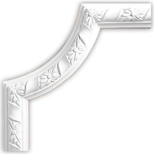 Угол Decomaster DECOMASTER-1 цвет белый 230х230х25 мм (DP 8051 B)