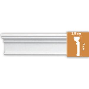 Молдинг Decomaster DECOMASTER-2 цвет белый 28х90х2400 мм (DP 9012)