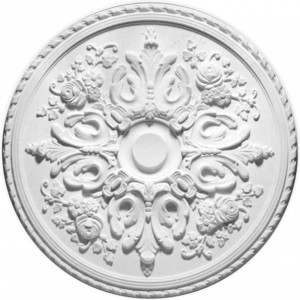 Розетка потолочная Decomaster DECOMASTER-1 цвет белый 820 мм (DR 307) decomaster цветной молдинг decomaster 152 5 размер 85х25х2400