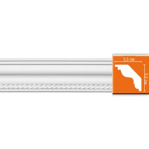 Профиль гибкий Decomaster DECOMASTER-2 цвет белый 55х55х2400 мм (DT 138 fl)