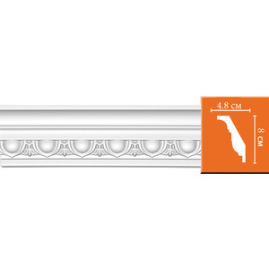Профиль Decomaster DECOMASTER-2 цвет белый 48х80х2400 мм (DT 23)