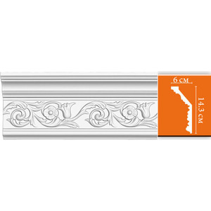 Профиль гибкий Decomaster DECOMASTER-2 цвет белый 60х143х2400 мм (DT 303 fl)