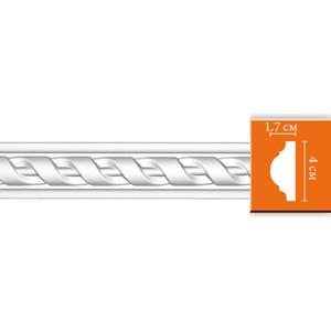 Молдинг Decomaster DECOMASTER-2 цвет белый 17х40х2400 мм (DT 8050)