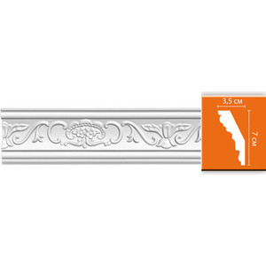 Профиль Decomaster DECOMASTER-1 цвет белый 35х70х2400 мм (DT 9)