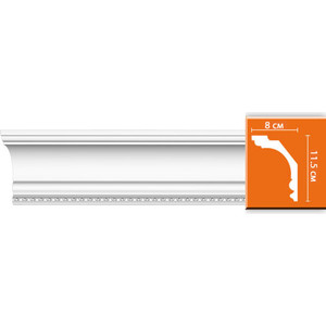 Профиль Decomaster DECOMASTER-1 цвет белый 115х80х2400 мм (DT 9810)