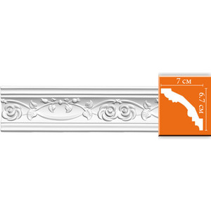 Профиль Decomaster DECOMASTER-1 цвет белый 70х67х2400 мм (DT 9815)