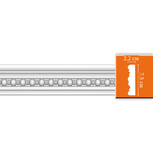 Молдинг Decomaster DECOMASTER-1 цвет белый 22х68х2400 мм (DT 9865)