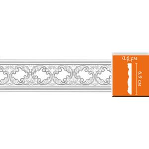 Молдинг Decomaster DECOMASTER-2 цвет белый 6х69х2400 мм (DT-8023)