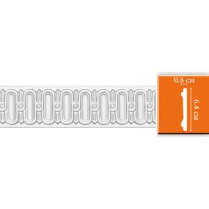 Молдинг Decomaster DECOMASTER-2 цвет белый 8х64х2400 мм (DT-8628)