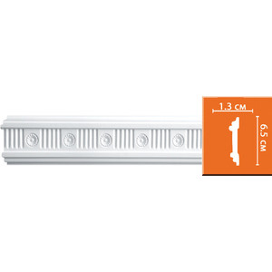 Молдинг Decomaster DECOMASTER-2 цвет белый 13х65х2440 мм (DT-8644)