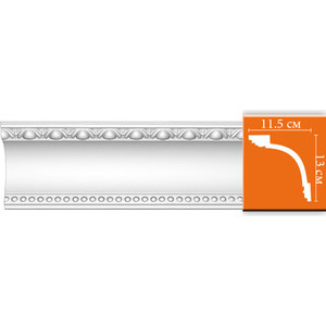 Профиль Decomaster DECOMASTER-2 цвет белый 115х130х2400 мм (DT-88107)
