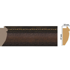 Багет Decomaster Эклектика цвет 2 47х18х2850 мм (FM12-2 )
