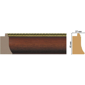 Багет Decomaster Эклектика цвет 3 45х27х2850 мм (FM18-3 )