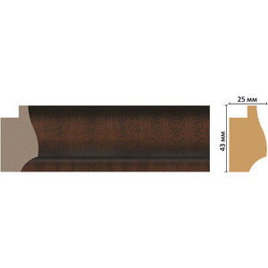 Багет Decomaster Эклектика цвет 1 43х25х2850 мм (FM20-1 )