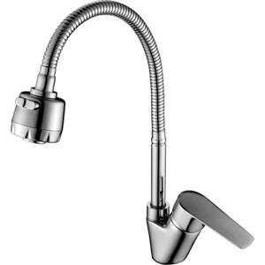 Смеситель для кухни Rossinka для кухни с гибким изливом (S35-26) смеситель для кухни vidima уно с литым поворотным изливом ba241aa