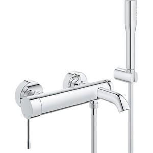Смеситель для ванны Grohe Essence+ с душевым гарнитуром (33628001) смеситель для ванны kludi balance с душевым гарнитуром напольный 525900575