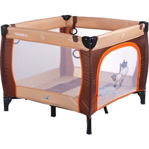Манеж Caretero Quadra brown коричневый (TERO-3993) itech lk 209l brown коричневый