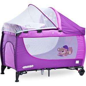 Манеж-кровать Caretero Grande purple фиолетовый (TERO-352) набор для кухни pasta grande 1126804