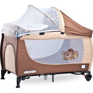 Манеж-кровать Caretero Grande brown коричневый (TERO-350)