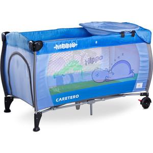 Фотография товара манеж-кровать Caretero Medio Classic blue синий (TERO-3835) (554878)
