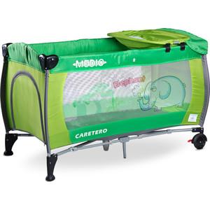 Фотография товара манеж-кровать Caretero Medio Classic green зеленый (TERO-3836) (554880)