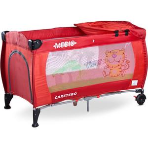 Манеж-кровать Caretero Medio Classic red красный (TERO-3834) манеж кровать caretero grande blue синий tero 35