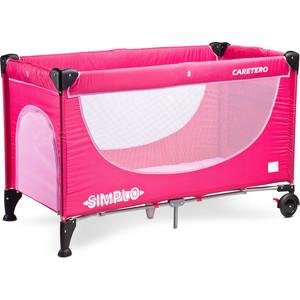 Манеж-кровать Caretero Simplo magenta ярко-розовый (TERO-392)