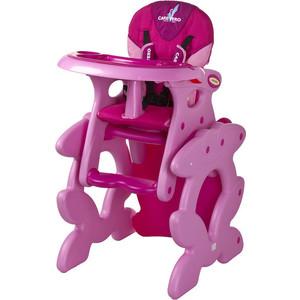 Стульчик для кормления Caretero и столик Primus pink розовый (TERO-752)