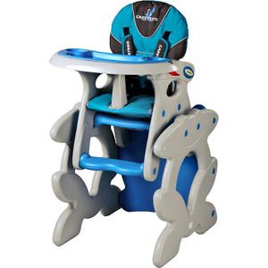 Стульчик для кормления Caretero и столик Primus blue голубой (TERO-750) caretero беговел детский twister цвет голубой